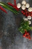 Verduras en un fondo del Grunge Imágenes de archivo libres de regalías
