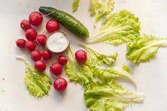 Verduras en una tabla Imagen de archivo