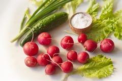 Verduras en una tabla Foto de archivo libre de regalías