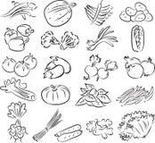 Verduras fijadas stock de ilustración