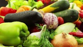 Verduras frescas almacen de metraje de vídeo
