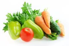 Verduras frescas aisladas Fotos de archivo libres de regalías