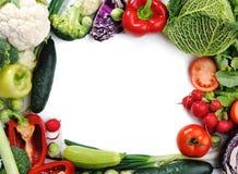 Verduras frescas, bandera Foto de archivo