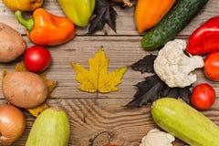 Verduras frescas, cocinando concepto, endecha del plano Foto de archivo