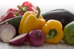 Verduras frescas coloreadas Imágenes de archivo libres de regalías