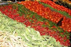 Verduras frescas coloridas para la venta Fotos de archivo