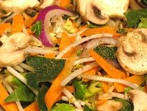Verduras frescas con el condimento Foto de archivo