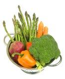 Verduras frescas con el Dr. del agua foto de archivo libre de regalías