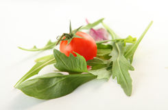 Verduras frescas en blanco Fotos de archivo