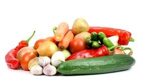 Verduras frescas en el fondo blanco fotografía de archivo libre de regalías