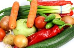 Verduras frescas en el fondo blanco foto de archivo libre de regalías