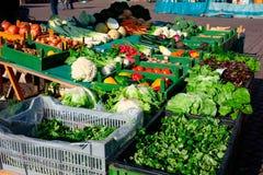 Verduras frescas en el mercado Fotos de archivo