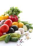 Verduras frescas en un fondo blanco Imagenes de archivo