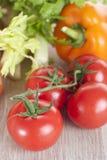 Verduras frescas en un vector Fotografía de archivo