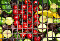 Verduras frescas para asar a la parrilla Foto de archivo libre de regalías