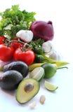 Verduras frescas para hacer el guacamole Fotografía de archivo libre de regalías