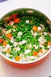 Verduras frescas para la sopa foto de archivo
