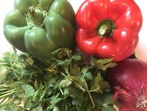 Verduras frescas populares para hacer la comida mexicana o la receta Foto de archivo libre de regalías