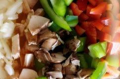 Verduras frescas tajadas Imagen de archivo