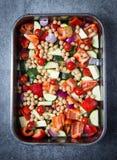 Verduras frescas Traybake fotografía de archivo