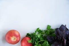 Verduras frescas y crudas y Comida de la vitamina Foto de archivo libre de regalías
