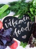 Verduras frescas y crudas y Comida de la vitamina Imagen de archivo libre de regalías