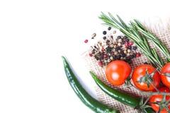 Verduras frescas y especias Fotos de archivo