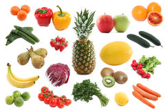 Verduras frescas y frutas Fotos de archivo libres de regalías
