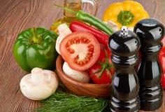 Verduras frescas y setas Imagen de archivo