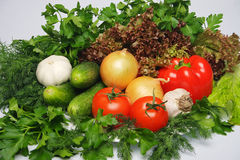 Verduras frescas y verdor foto de archivo libre de regalías