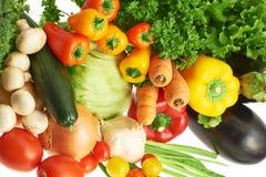 Verduras múltiples sobre el fondo blanco foto de archivo libre de regalías