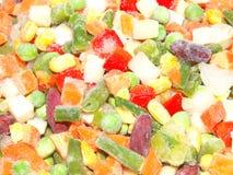 Verduras mezcladas congeladas imágenes de archivo libres de regalías