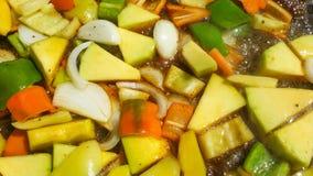 Verduras mezcladas en barbacoa imagen de archivo libre de regalías