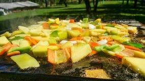 Verduras mezcladas en barbacoa foto de archivo libre de regalías