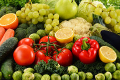 Verduras orgánicas crudas clasificadas Foto de archivo
