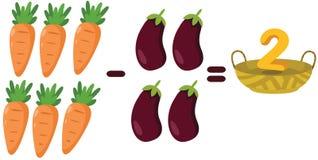 Verduras para aprender matemáticas ilustración del vector