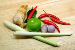 Verduras para la comida tailandesa Imágenes de archivo libres de regalías