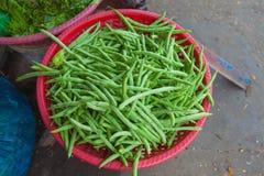 Verduras para la venta en el mercado en Hoi An Imagenes de archivo