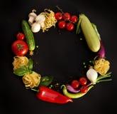 Verduras perfectas en el fondo negro Imágenes de archivo libres de regalías