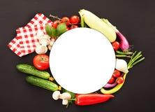 Verduras perfectas en el fondo negro Foto de archivo libre de regalías
