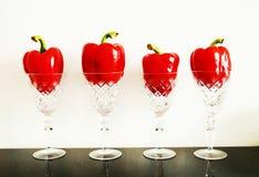 Verduras rojas en cristal Imagen de archivo
