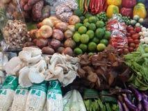 Verduras tailandesas del mercado Fotos de archivo