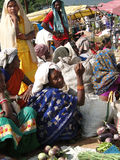 Verduras tribales de la venta de las mujeres Fotos de archivo