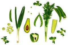 Verduras verdes Imagen de archivo libre de regalías