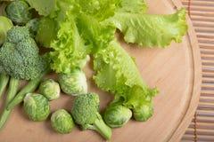 Verduras verdes frescas para la nutrición sana Foto de archivo libre de regalías
