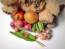 Verduras y condimento Foto de archivo libre de regalías