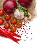 Verduras y especias Fotografía de archivo libre de regalías