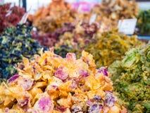 Verduras y flores fritas Imagen de archivo libre de regalías