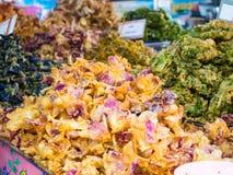 Verduras y flores fritas Fotos de archivo libres de regalías