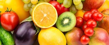 verduras y fruta Foto de archivo libre de regalías